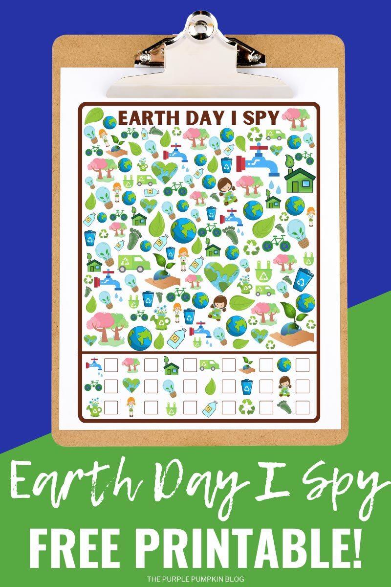 Earth Day I Spy Free Printable