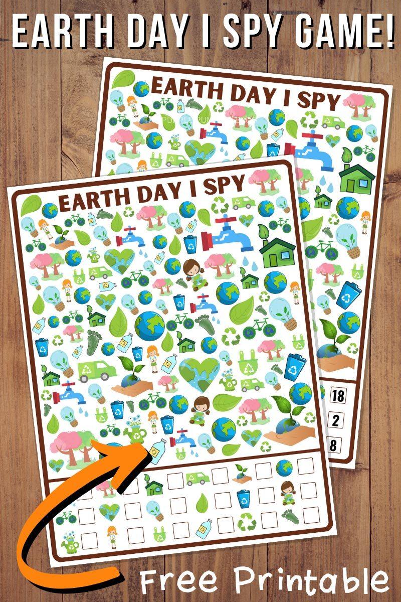 Earth Day I Spy Game - Free Printable!