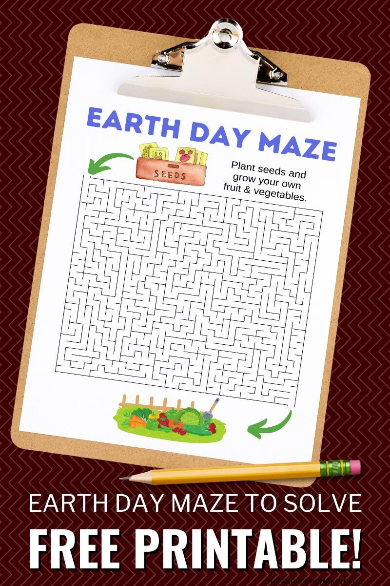 Earth Day Maze to Solve - Free Printable!