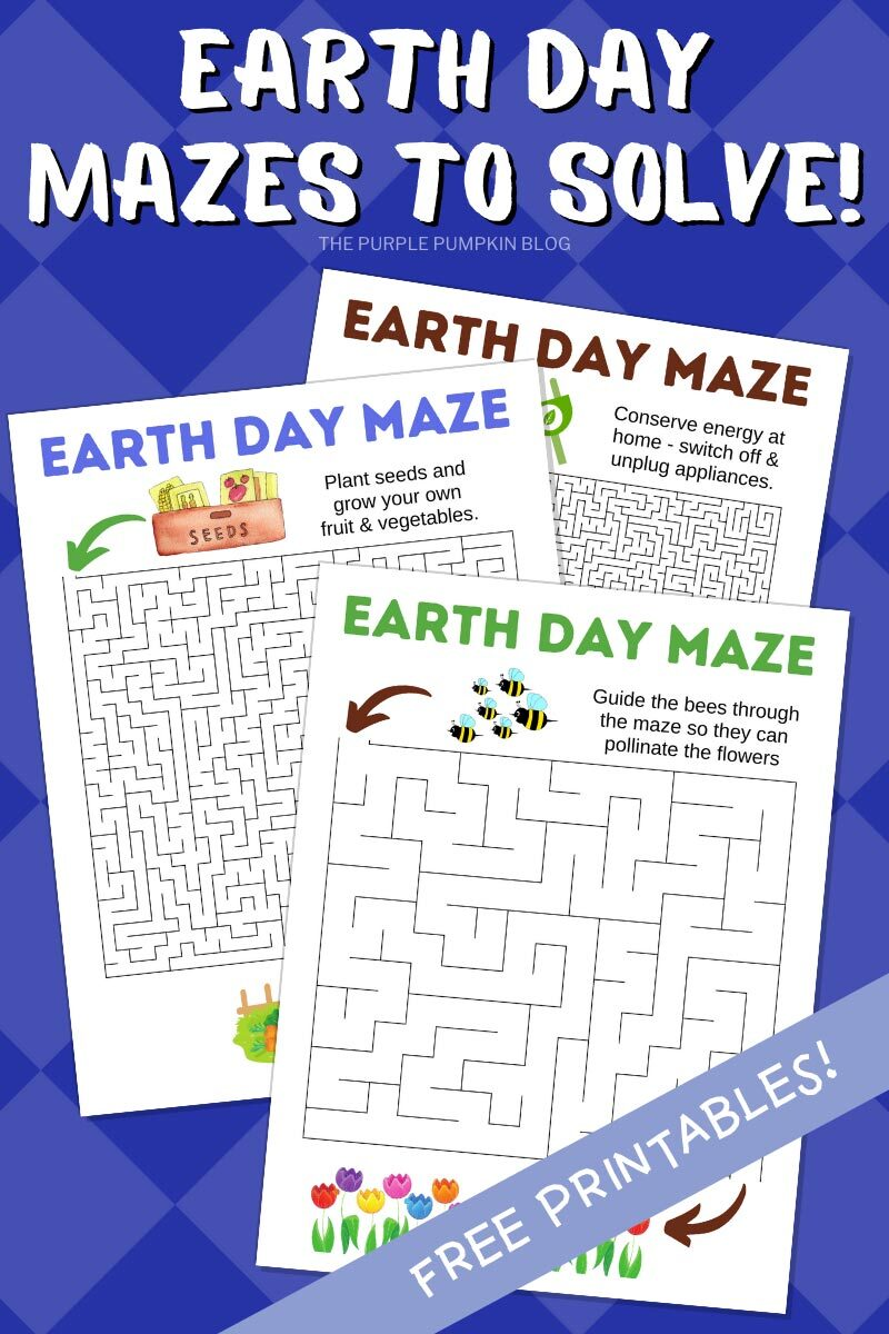 Earth Day Mazes to Solve! Free Printable!