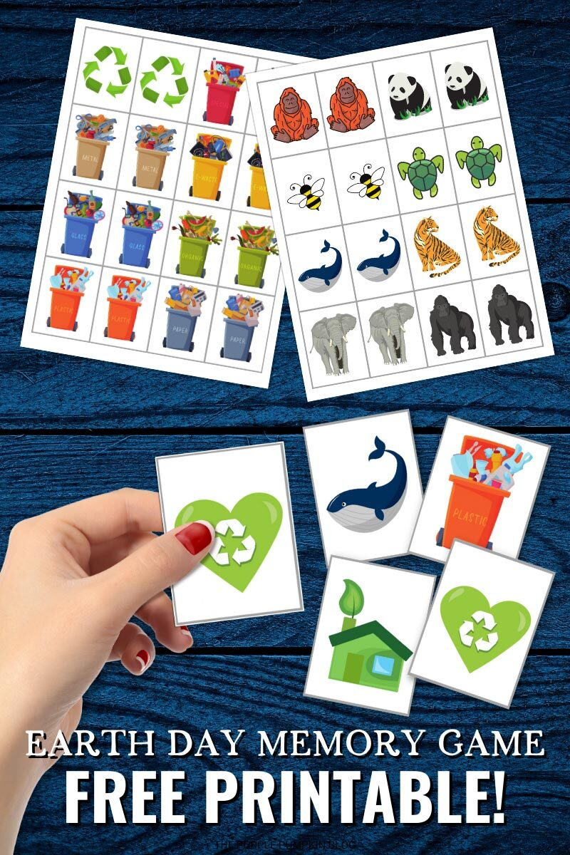 Earth Day Memory Game Printable Cards