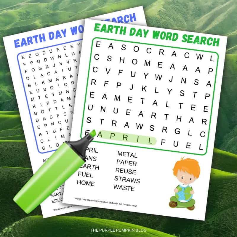Earth Day Printable Word Search