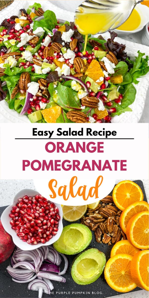 Easy Salad Recipe - Orange Pomegranate Salad