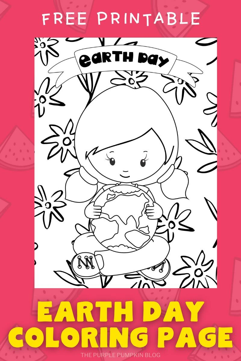 Free Earth Day Coloring Page Printable
