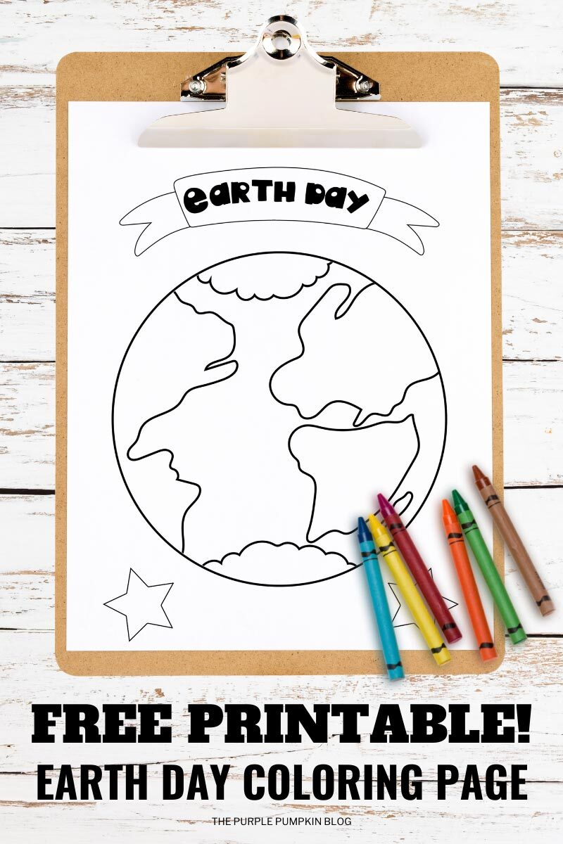 Free Earth Day Coloring Page Printables