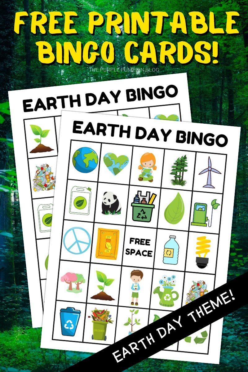 Free Printable Bingo Cards - Earth Day Theme
