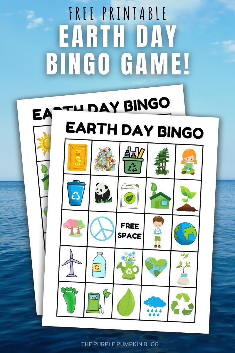 Free Printable Earth Day Bingo Game