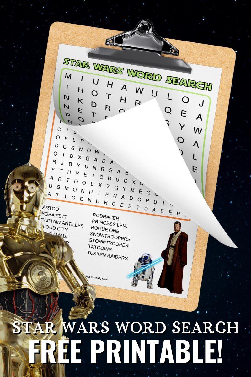 Free Star Wars Word Search Printable