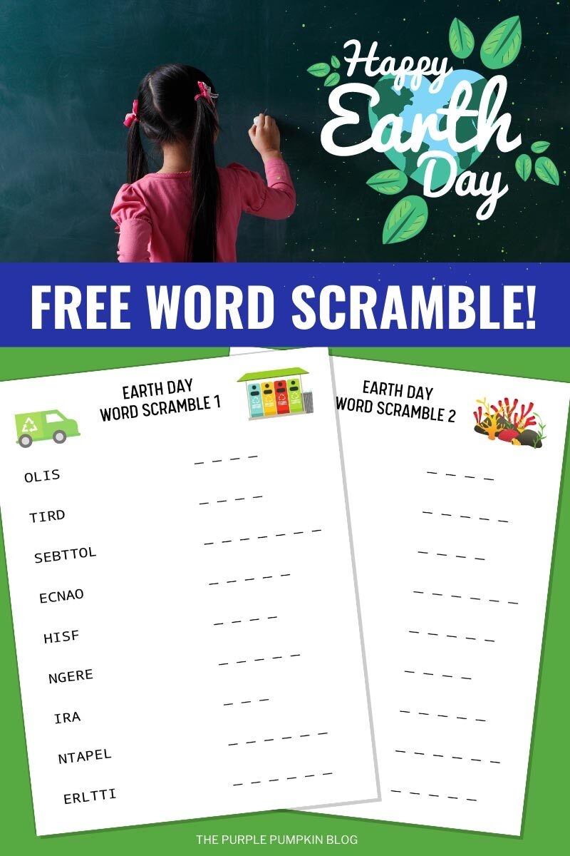 Free Word Scramble for Earth Day