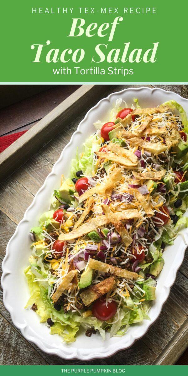 Healthy Tex-Mex Recipe! Beef Taco Salad