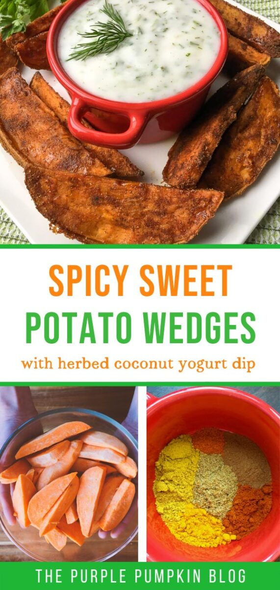 How To Make Spicy Sweet Potato Wedges with Herbed Yogurt Dip