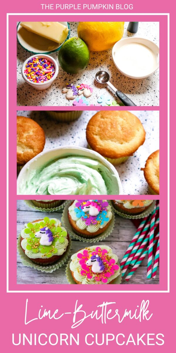 How to Make Lime-Buttercream Unicorn Cupcakes
