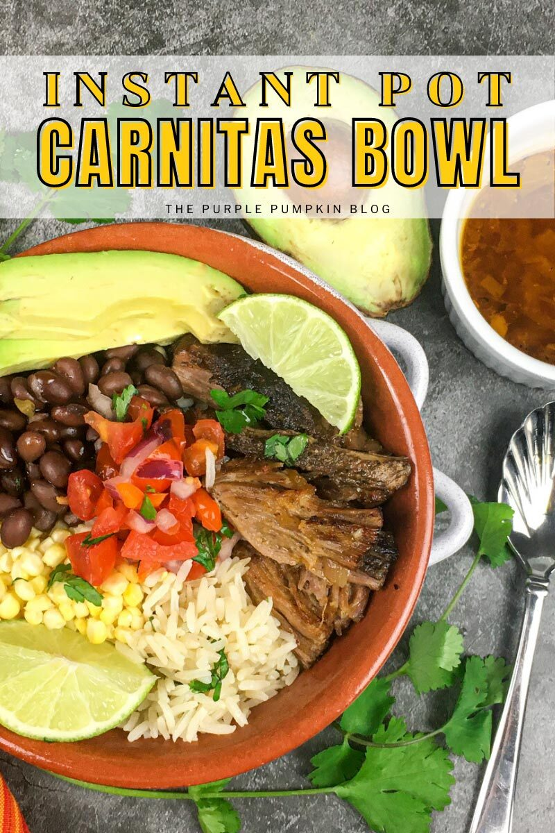Instant Pot Carnitas Bowls with Rice