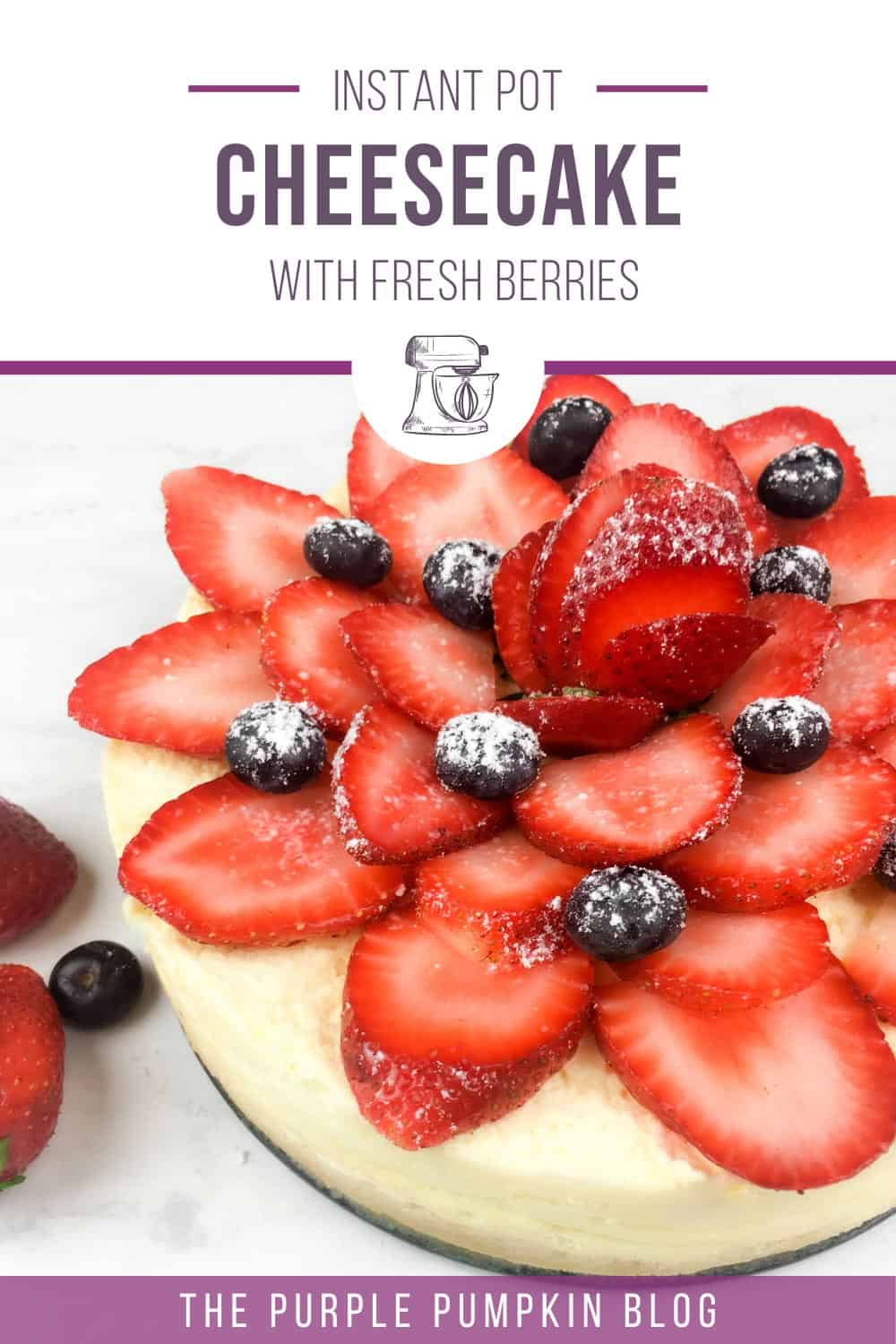 Instant-Pot-Cheesecake-with-Fresh-Berries