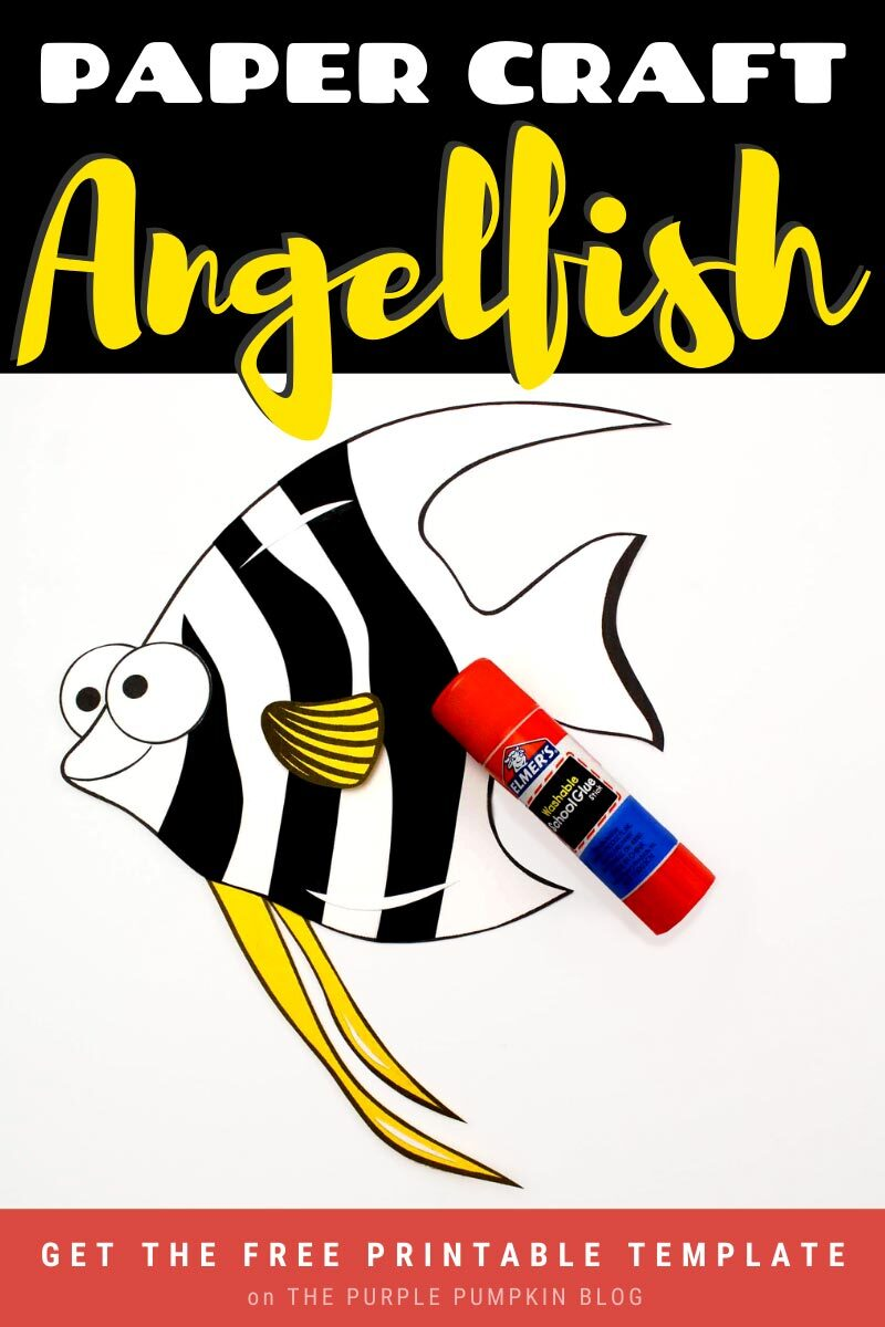 Fun Paper Angelfish Craft with Free Printable Template!