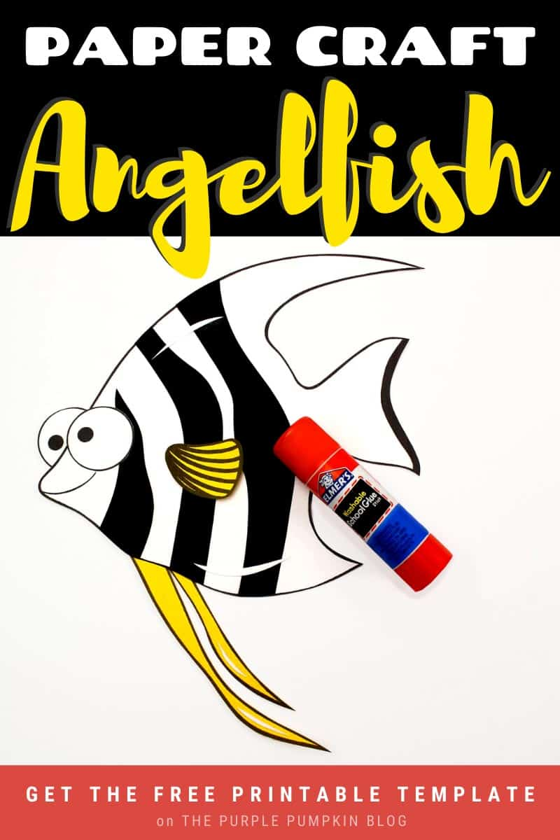 Paper-Craft-Angelfish-with-Free-Printable-Template