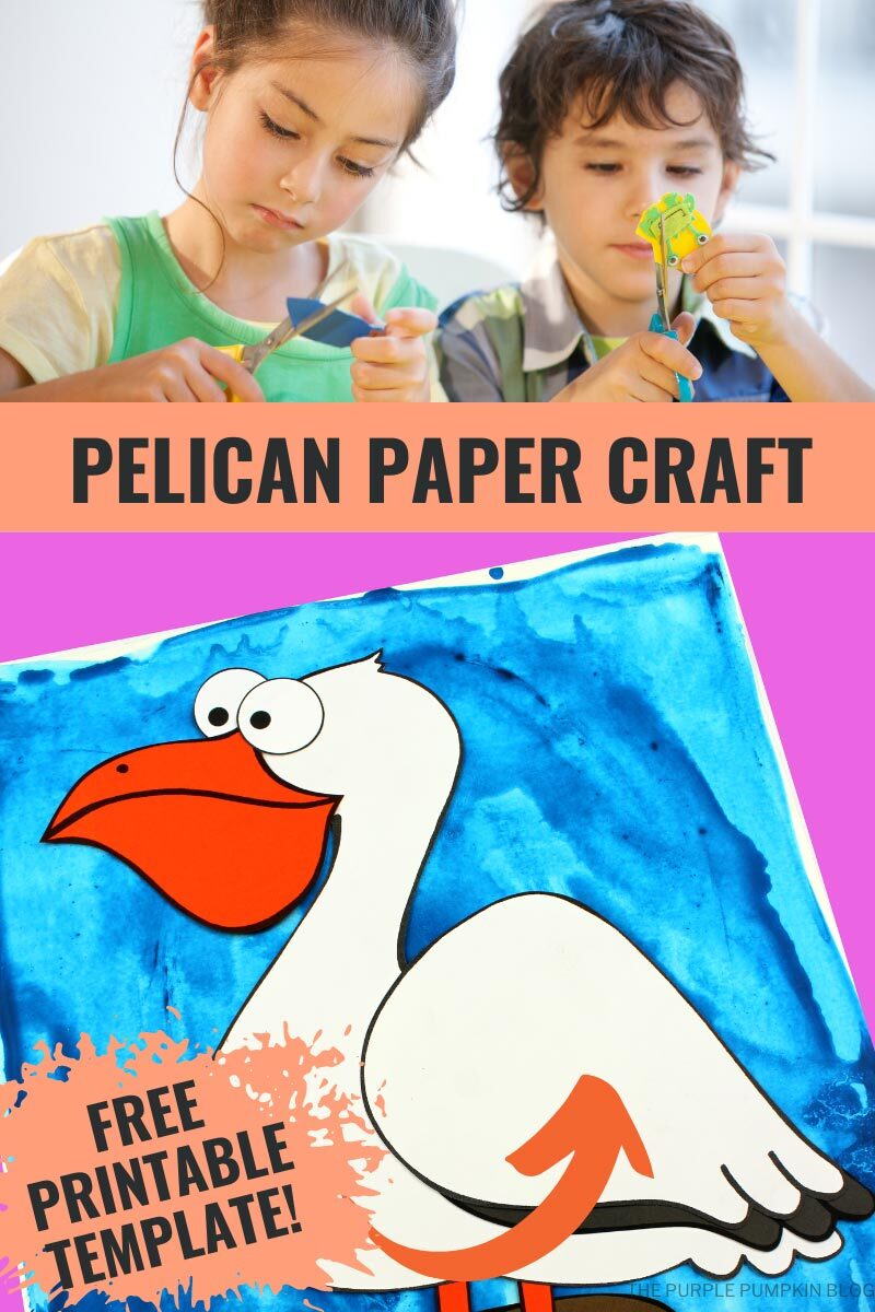Pelican Paper Craft with Free Printable Template