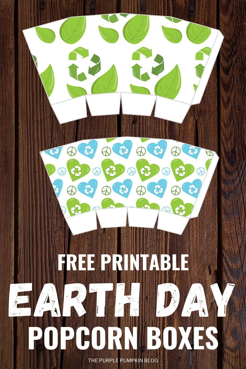 Popcorn Box Template for Earth Day