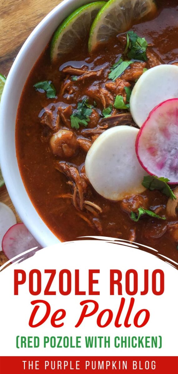 Pozole Rojo De Pollo (Red Pozole with Chicken)