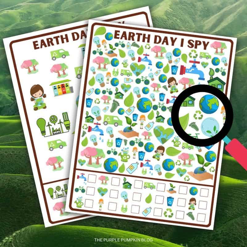 Printable Earth Day I Spy Games