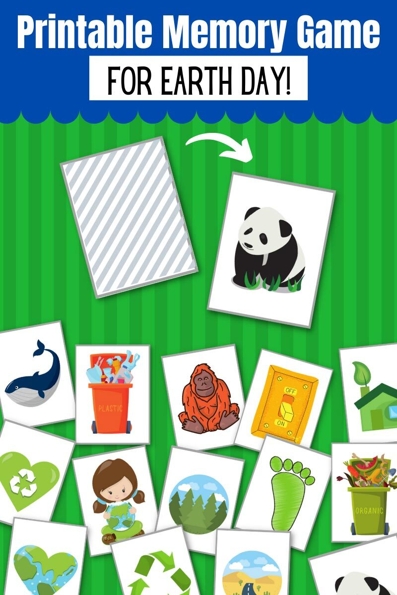 Printable Memory Game for Earth Day