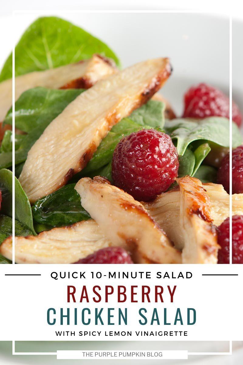 Quick 10 Minute Raspberry Chicken Salad