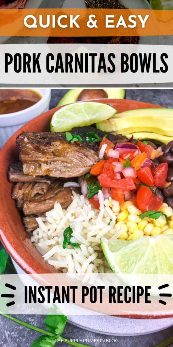 Quick & Easy Pork Carnitas Bowls