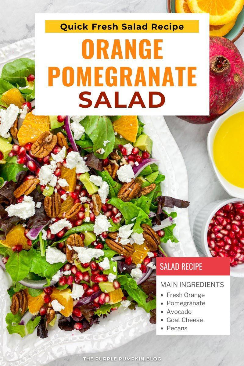 Quick Fresh Orange Pomegranate Salad Recipe