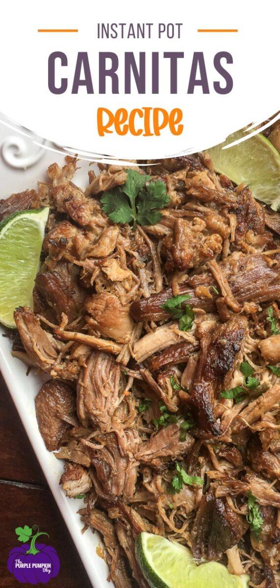 Recipe for Instant Pot Pork Carnitas