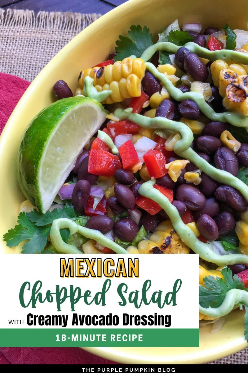 Recipe for Mexican Chopped Salad with Creamy Avocado Dressing