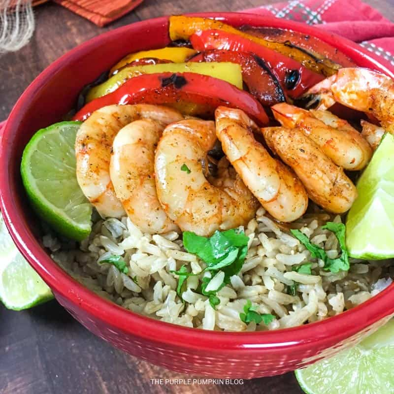 Recipe for Shrimp Fajita Bowls