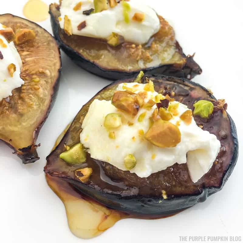 Roasted Figs Appetizer with Labneh and Pistachios