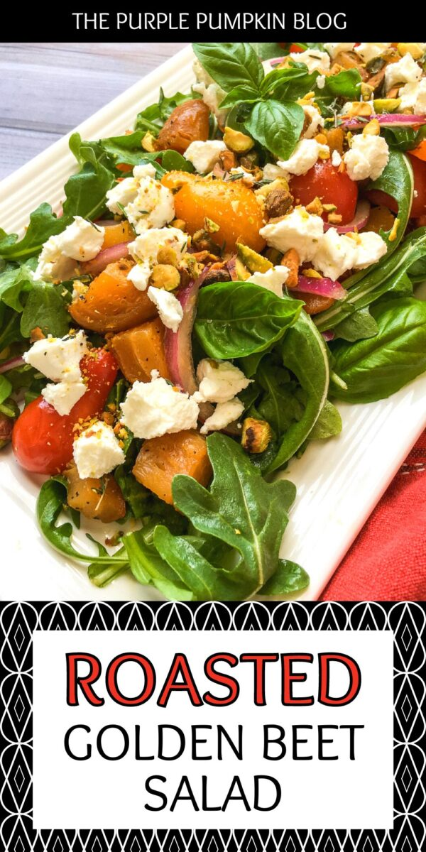 Roasted Golden Beet Salad with Goats Cheese