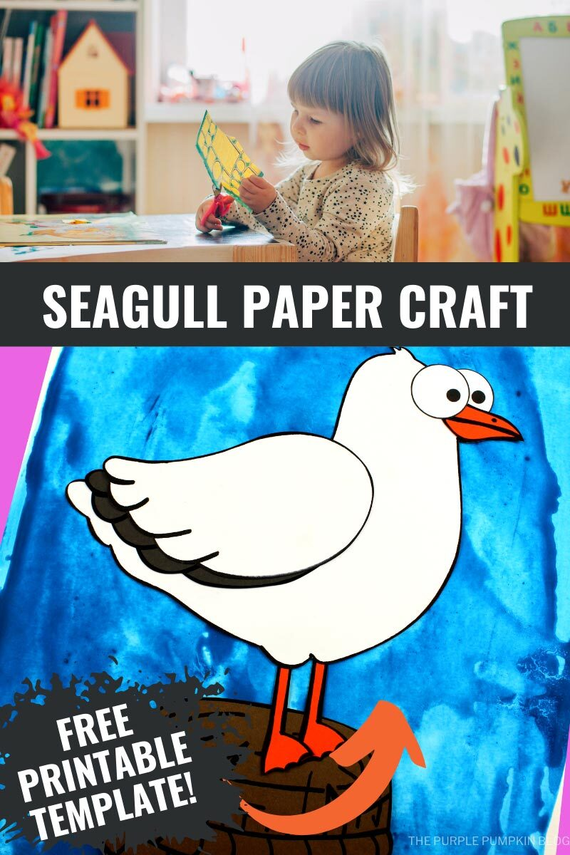 Seagull Paper Craft with Printable Template