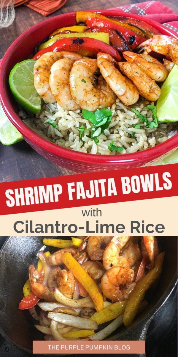 Shrimp Fajita Bowls with Cilantro Rice