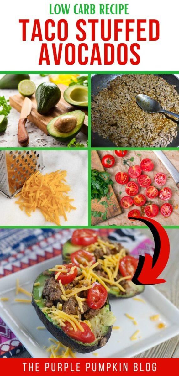 Taco Stuffed Avocados - Low Carb Recipe