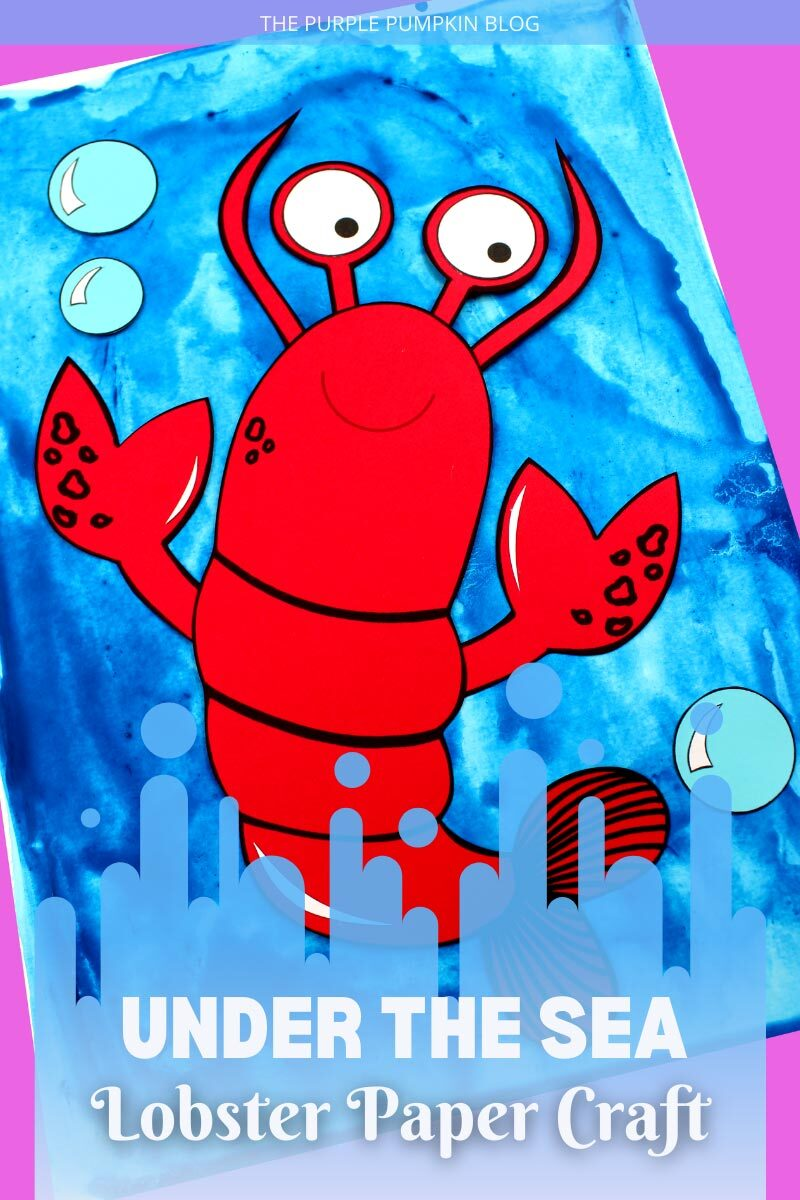 Under the Sea Lobster Paper Craft