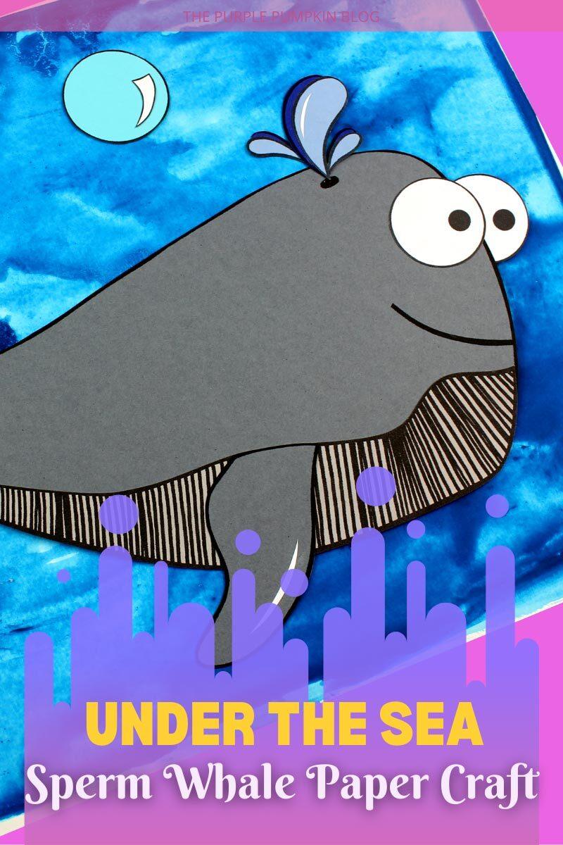 Under the Sea Sperm Whale Paper Craft