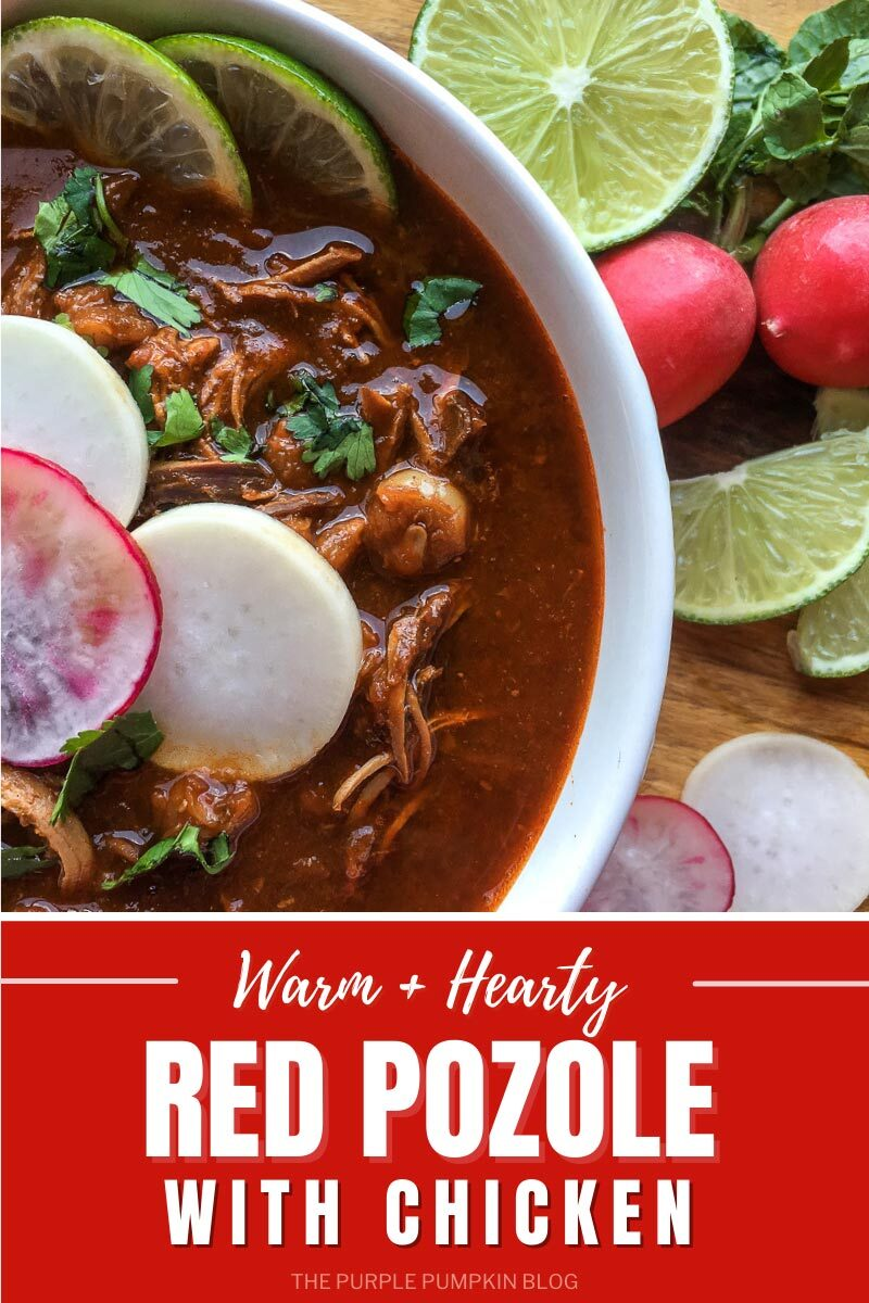 Warm & Hearty Red Pozole with Chicken