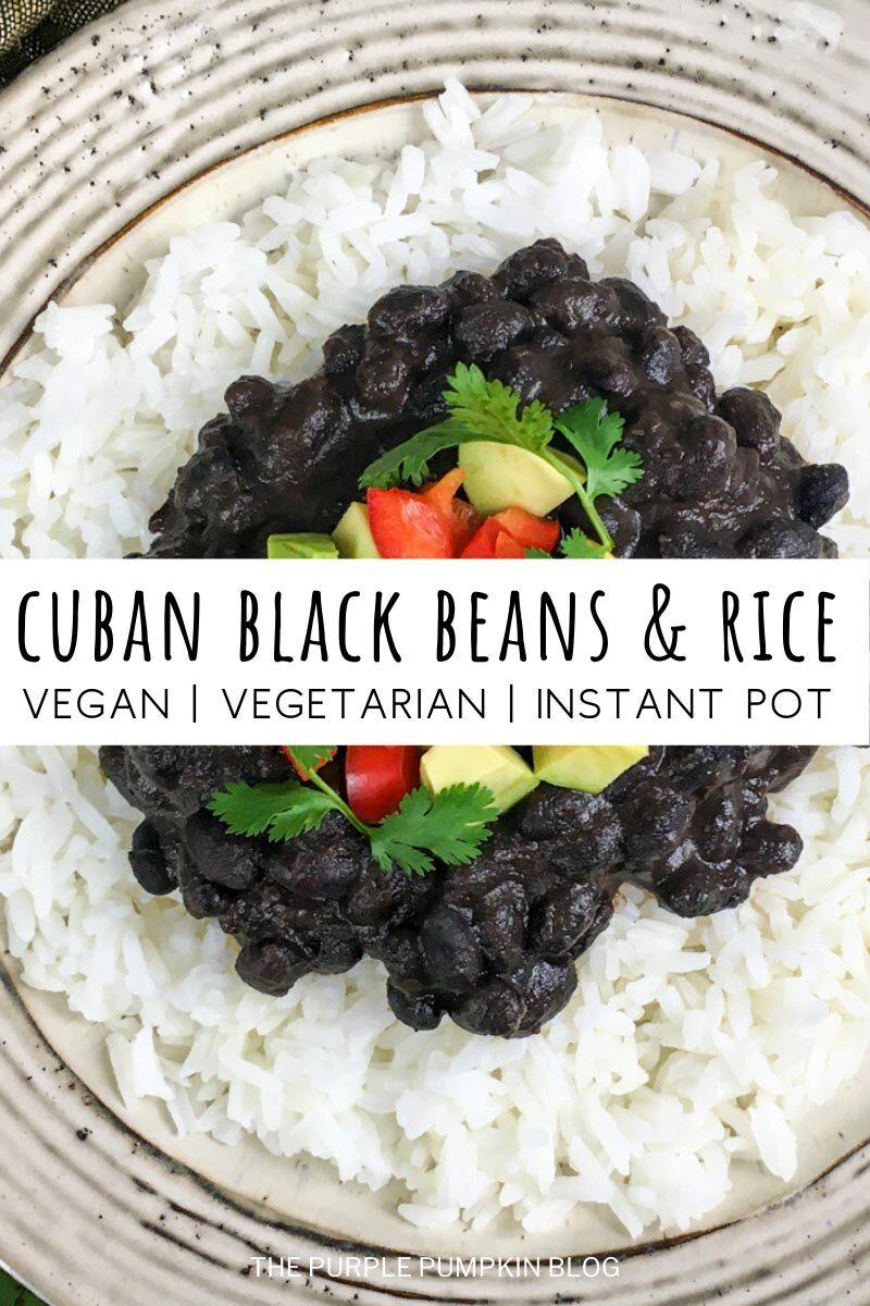 Cuban Black Beans & Rice - Vegan Recipe