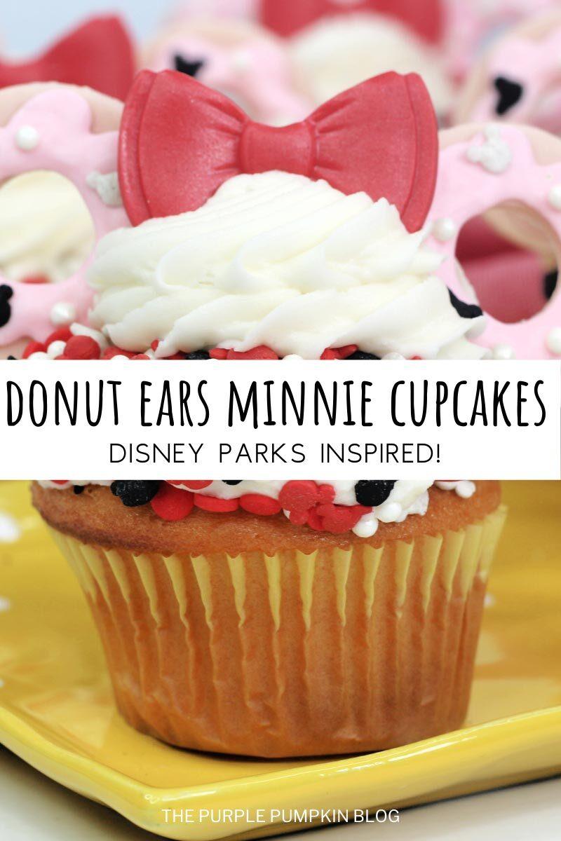 Donut Ears Minnie Cupcakes - Disney Parks Inspired