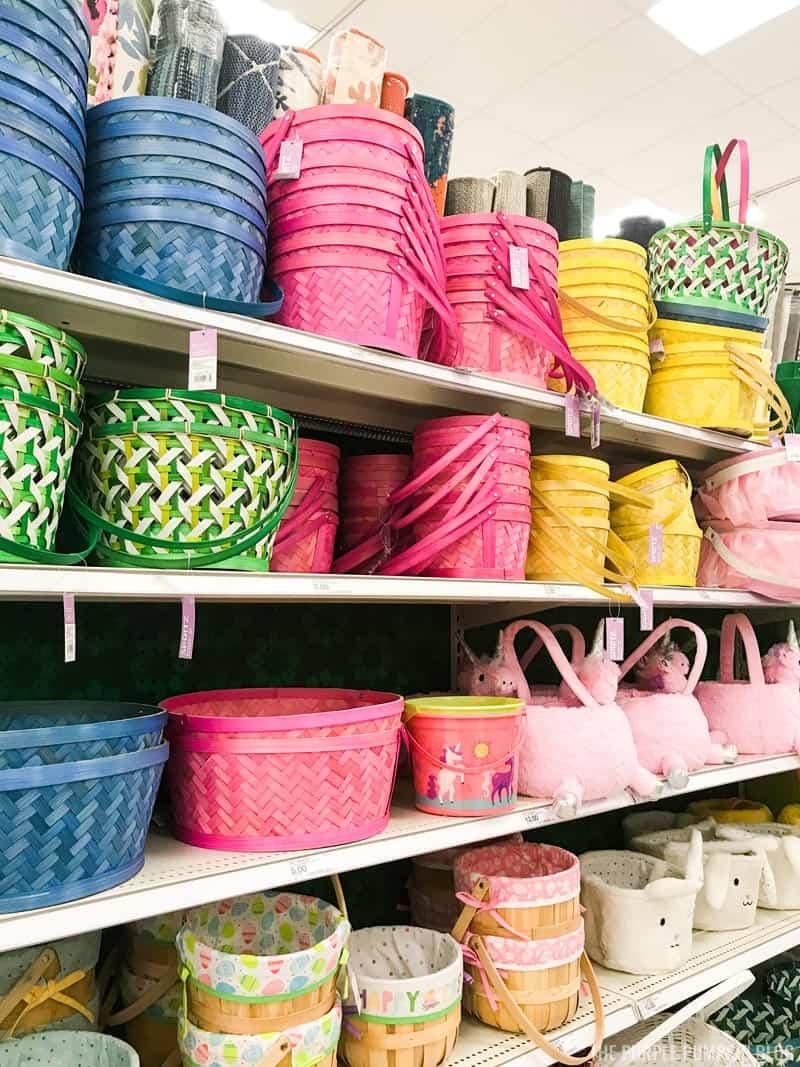 Easter Baskets at Super Target
