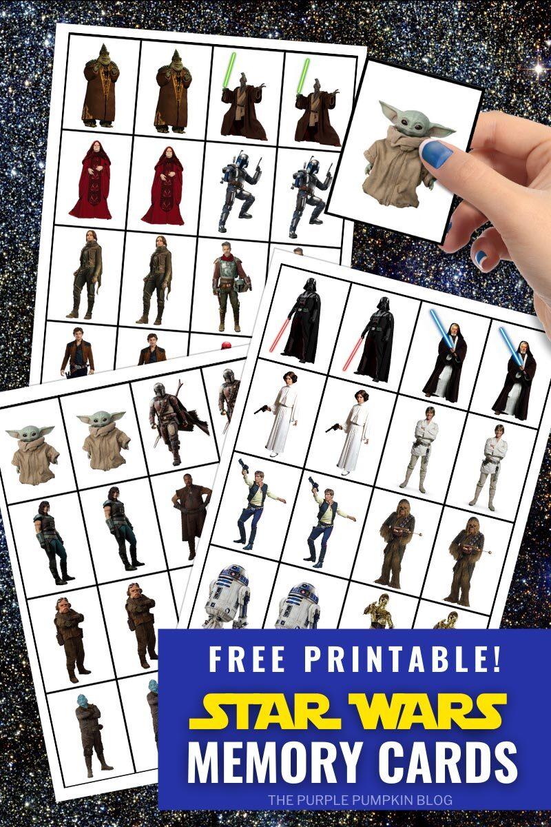 Free Printable Star Wars Memory Cards
