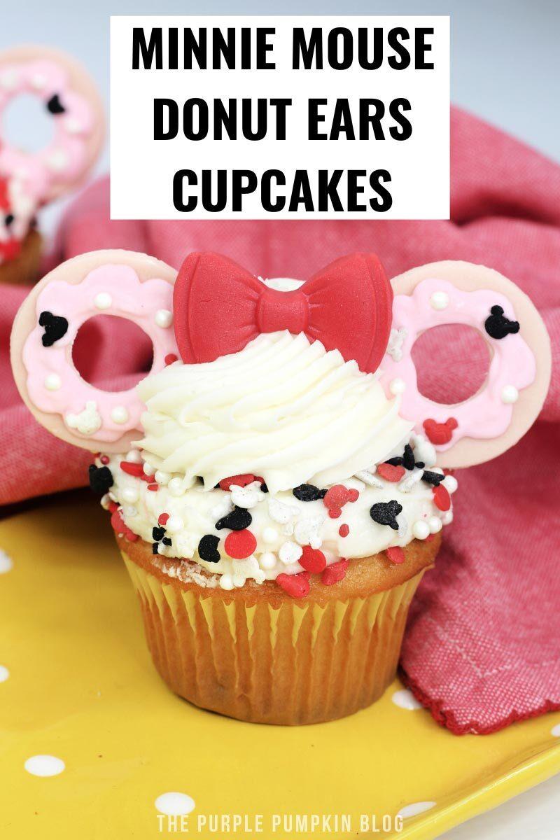 Minnie Mouse Donut Ears Cupcakes
