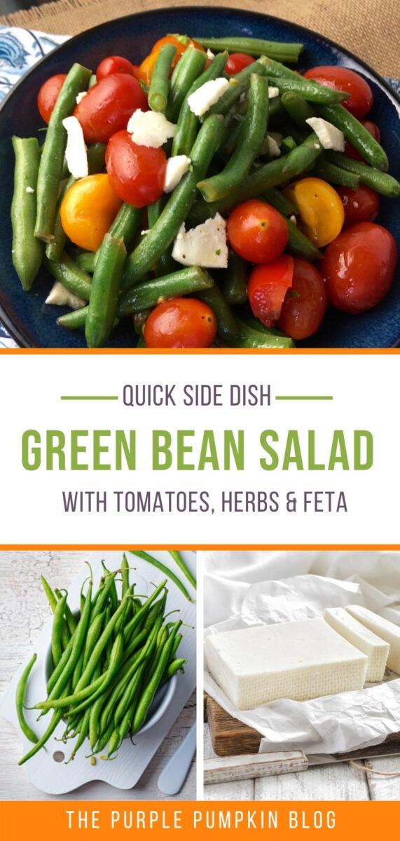 Quick Side Dish - Green Bean Salad with Tomatoes, Herbs & Feta
