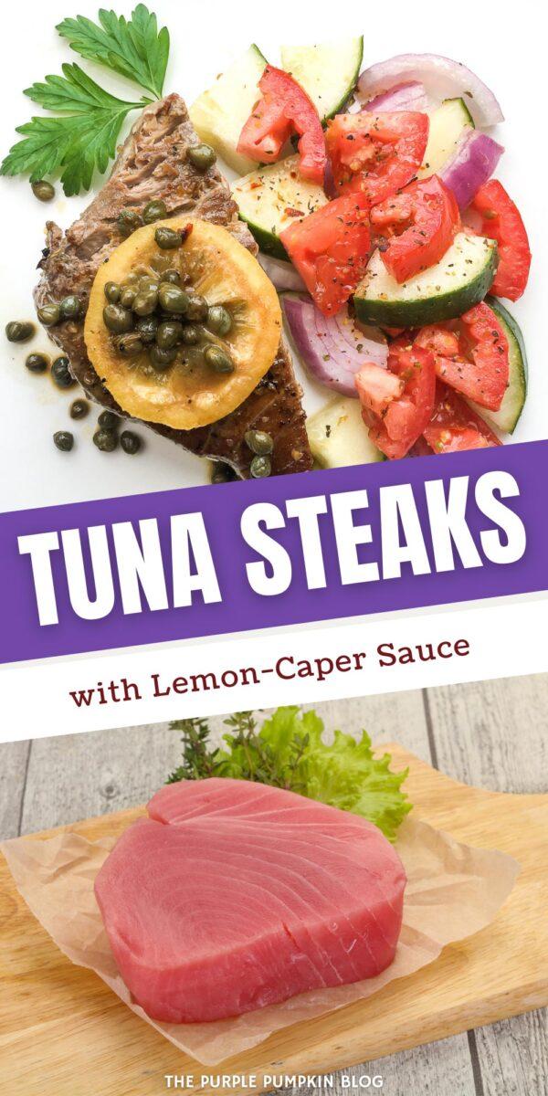 Tuna Steaks with Lemon-Caper Sauce