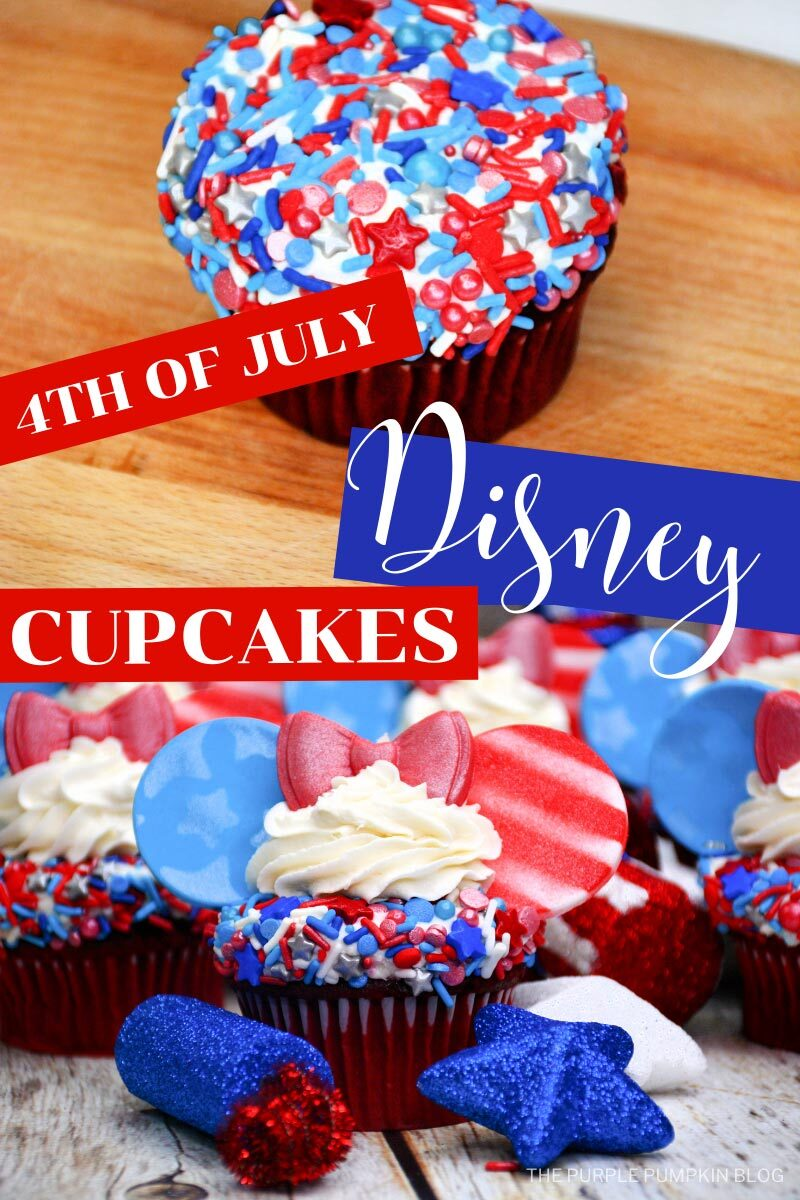 4th of July Disney Cupcakes