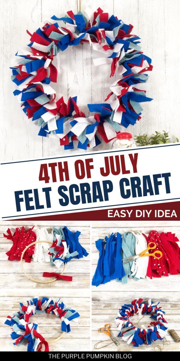 4th of July Felt Scrap Craft - Easy DIY Idea
