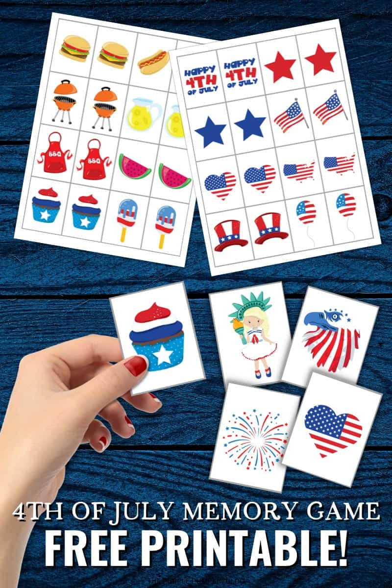 Free Printable 4th of July Memory Game Cards