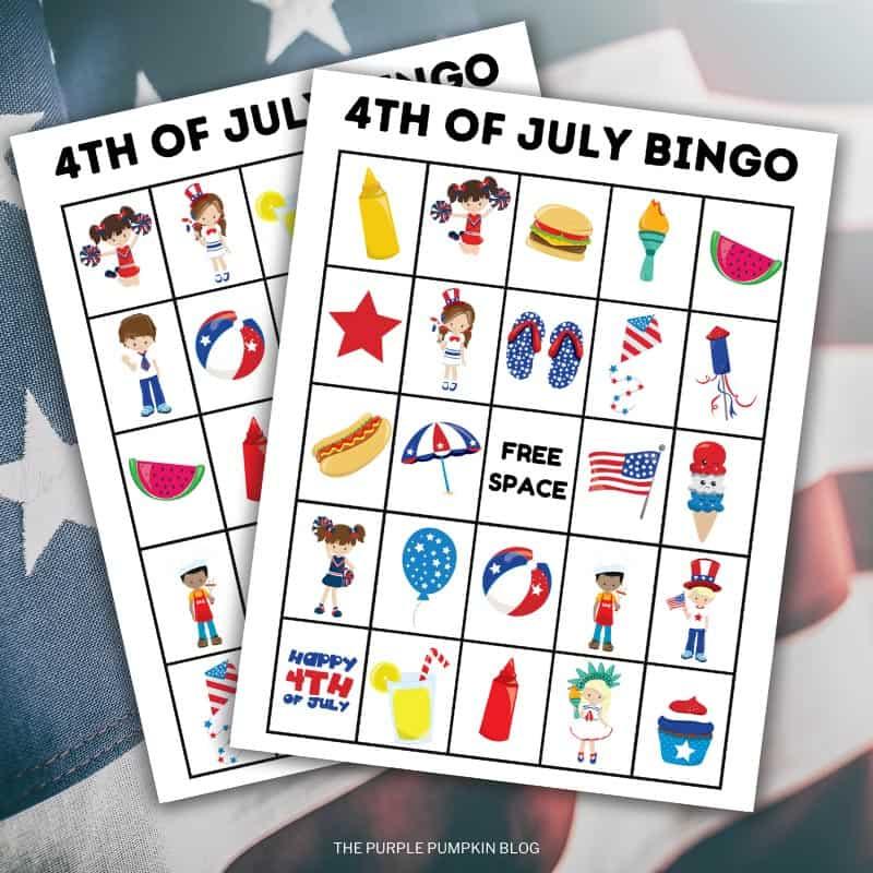 4th of July Printable Bingo Cards